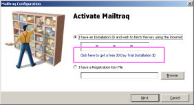 You will see this dialog during Installation: Select the 30-day trial